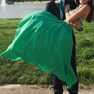 Sherri Hill Dresses - Sherri Hill Green Two Piece Prom Dress